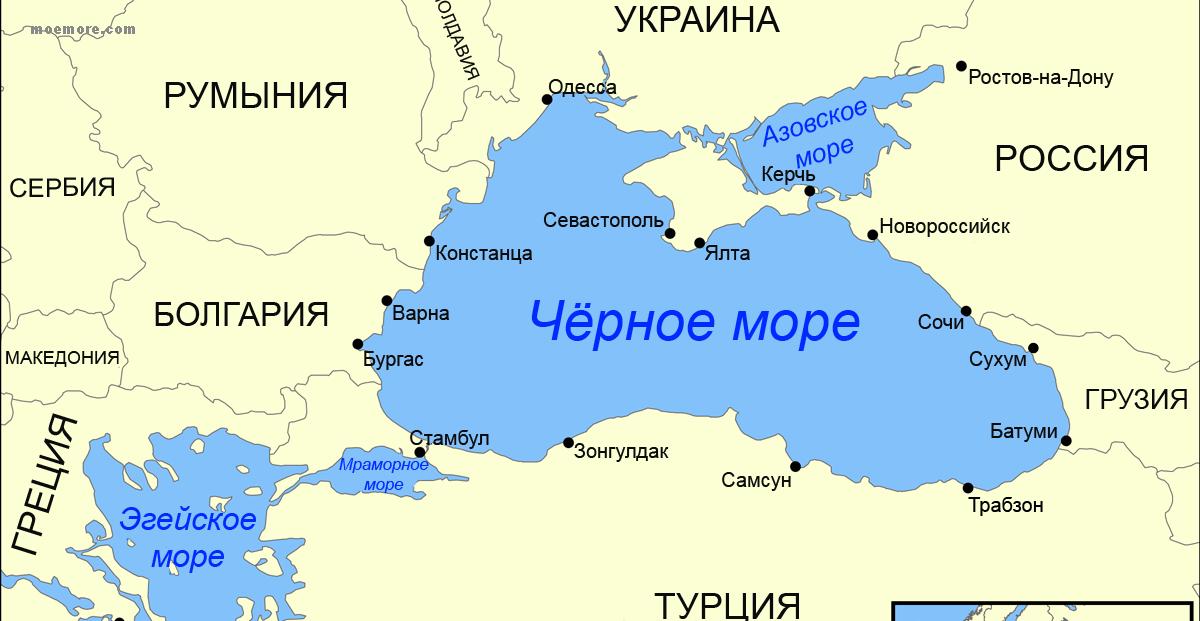 Черное море карта флора и фауна