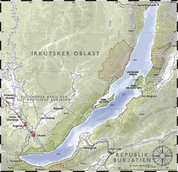 Озеро байкал карта